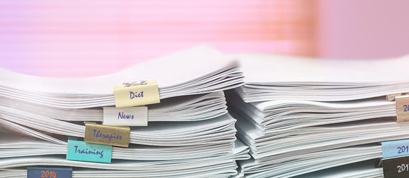 Image of pile of sorted documents